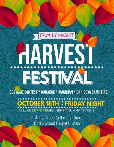 Family Night -- Fall Harvest Festival